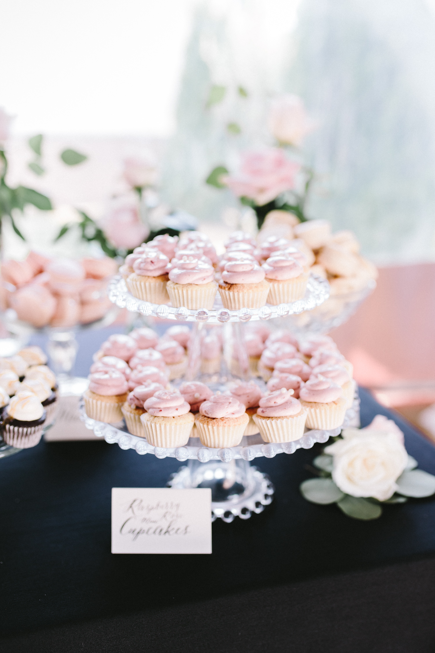 Beautiful mini cupcakes at a Fox Hills wedding by Sweet Heather Anne