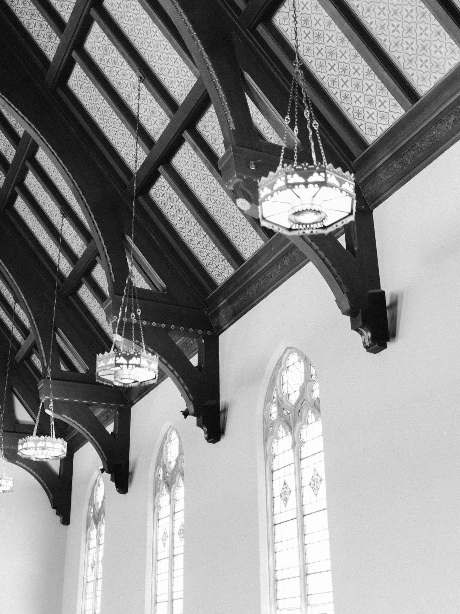 The ornate interior and ceiling of an Ann Arbor, Michigan church