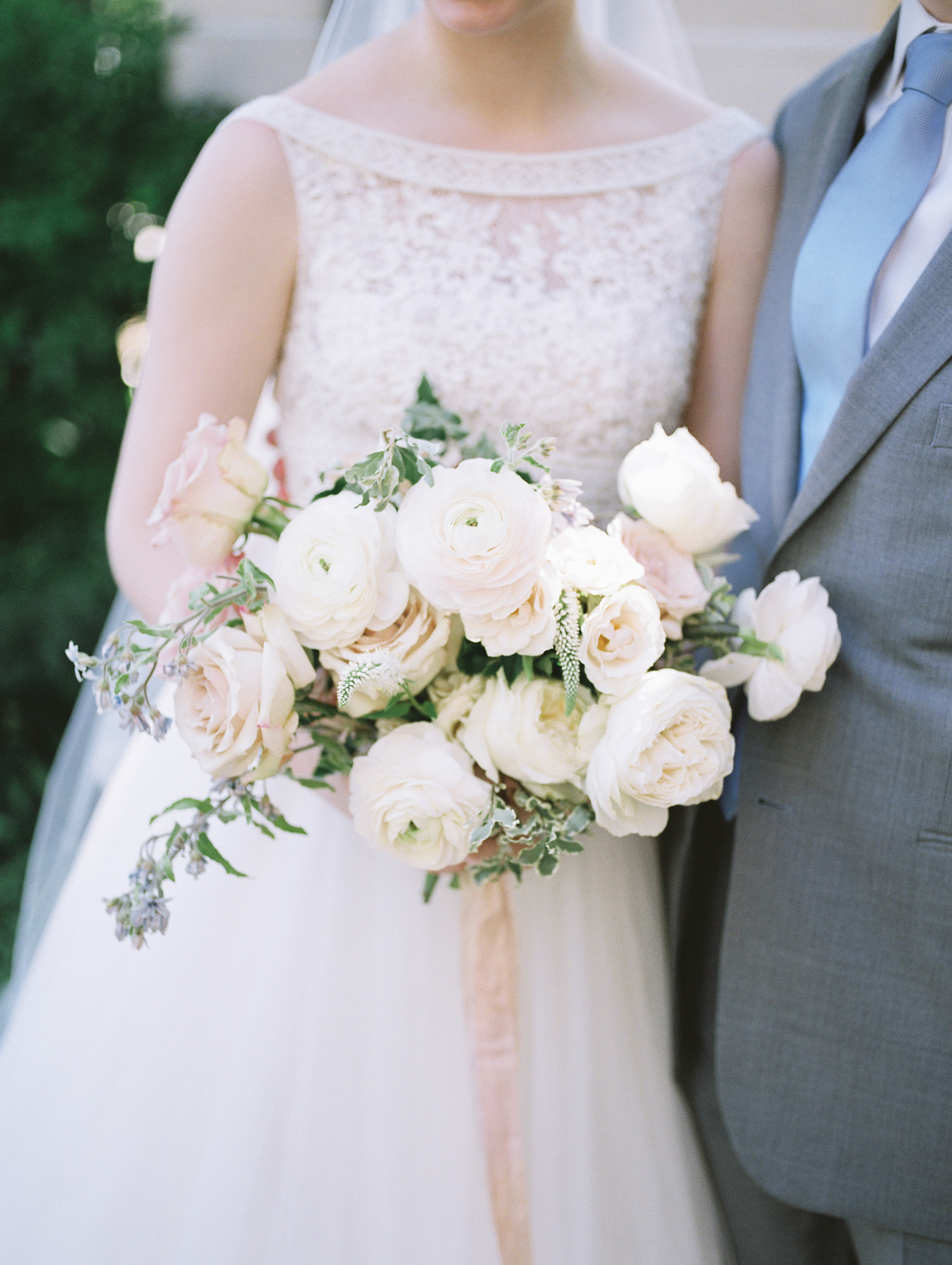 A lush bridal bouquet captured on film by Christina Harrison Photography