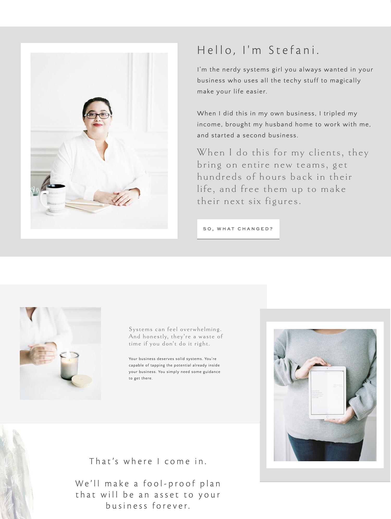 Michigan brand photographer Christina Harrison's film photography is seen on Stefani Jessica Studio's website