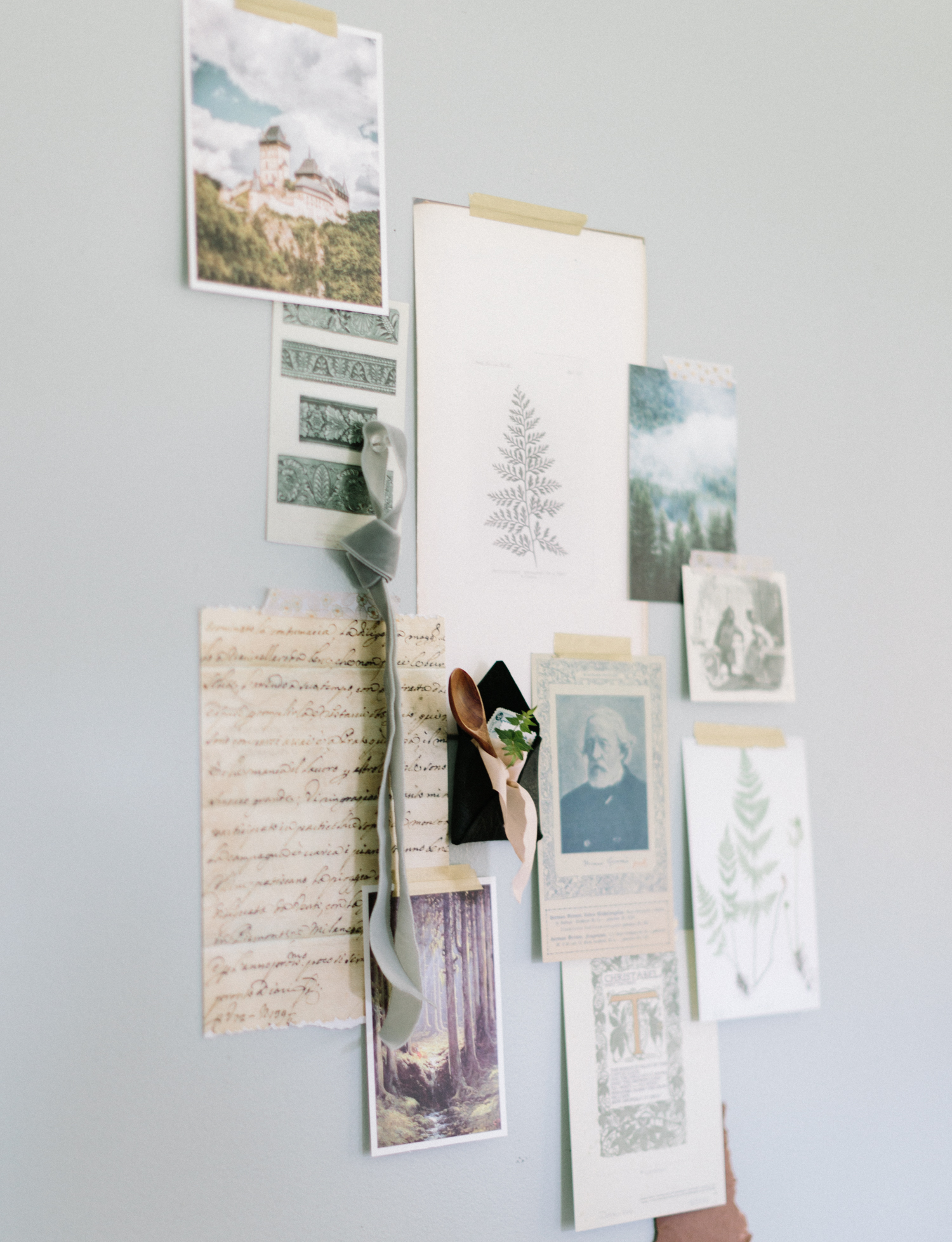 Inspiration for a forest themed stationery suite during brand photos in Brighton, Michigan
